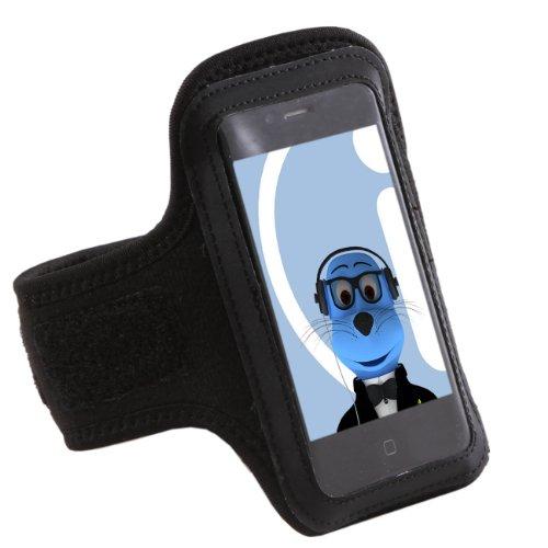 iTALKonline SCHWARZ Sport GYM Armband Tasche für Samsung S7500 Galaxy Ace Plus