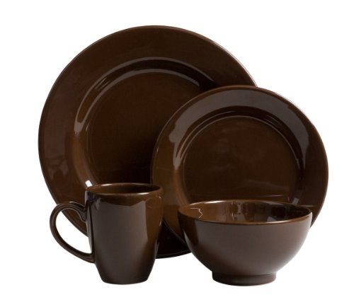 Waechtersbach Fun Factory II Chocolate 16-Piece Dinnerware Set, Service for 4