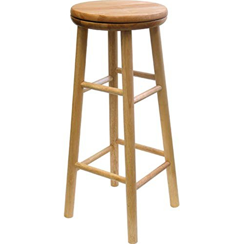 Winsome Fremont 31 in. Backless Swivel Bar Stool - Natural -
