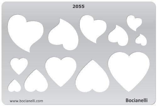 Art Clay PMC Knetsilber Knetgold Schablone Zeichenschablone - Silberschmuck Goldschmuck Schmuckstücke Handwerk Kunst Schmuck machen gestalten - Herz Herzen Symbole
