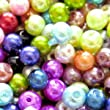 200 pieces 4mm Glass Pearl Beads - Mixed - A0931