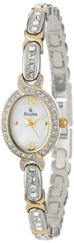 Bulova Women's 98L005 Crystal Accented Mother Of Pearl Dial Watch