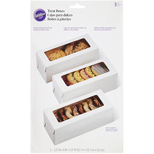 Wilton White Rectangle Boxes, 3 Count