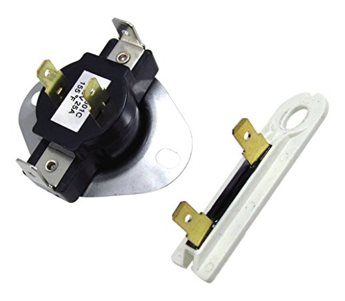 Edgewater Parts 3387134 & 3392519 Cycling Thermostat & Thermal Fuse for Whirlpool & Kenmore Dryer (Whirlpool Part 3392519 compare prices)