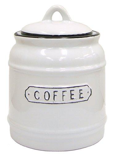 南海通商 La Nostalgia ホーロー風キャニスター Coffee 0249-004
