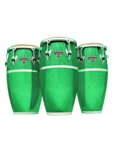 latin percussion lp matador fiberglass 11 3 4 conga raul rekow signature green glitter. Black Bedroom Furniture Sets. Home Design Ideas
