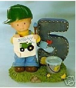John Deere Age 5 Birthday Figurine