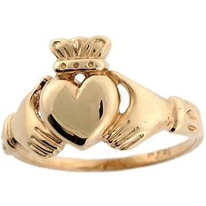 9ct or jaune bague de claggagh irlandaise symbole d 39 amiti et d 39 amour bijoux. Black Bedroom Furniture Sets. Home Design Ideas
