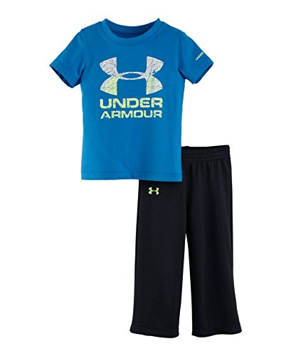 Under Armour Baby-Boys Infant Topo Logo Set, Electric Blue, 18 Months front-355413