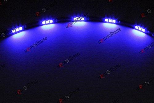 2x bandes Bleu Vif voiture DRL 15LED SMD Lampes Ampoules Lampes Feux de circulation diurnes 12V