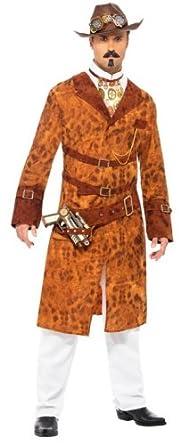Smiffy's Steam Punk Wild West Agent Male Costume, Multi, Medium