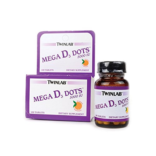 Mega D3 Dots 5,000 Iu 100 Tabs (Twinlab Vitamin D compare prices)