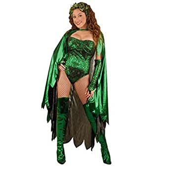 Adult Women's Poison Ivy Costume, Green