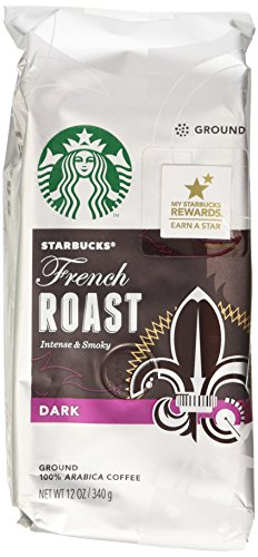 Starbucks Dark French Roast Ground Coffee, 12 Ounce (Pack of 3)