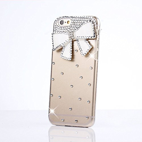 iPod Touch 5 Case, Sense-TE Glamour Crystal 3D Handmade Sparkle Glitter Bowknot Diamond Gem Rhinestone Bling iPod Case Clear Hard Cover for iPod Touch 5th Generation with Retro Bowknot Anti Dust Plug (Ipod 5 Cases Pink Gems compare prices)