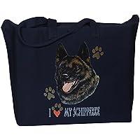 BAGedge Black Dachshund Zippered Tote Bag: Handbags: Amazon.com