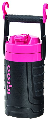 Igloo 1/2 gallon Insulated Hydration Jug, Black/Pink, 64 oz (Igloo Cooler Pink compare prices)