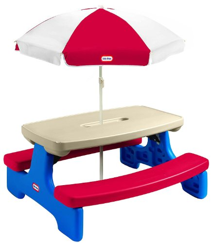 Little Tikes Easy Store Large Picnic Table with Umbrella (Little Tikes Tables compare prices)