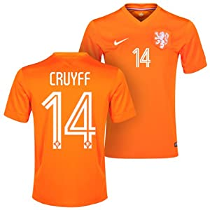 Netherlands Home 2014 Authentic Jersey (Official Nike)