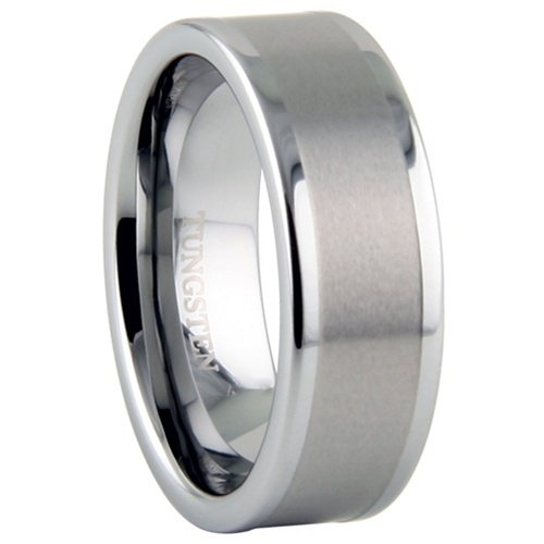 Tungsten Carbide Ring - Plain - Size : 12.5