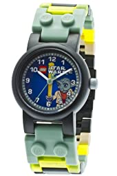 LEGO Kids\' 8020295 Star Wars Yoda Plastic Watch With Link Bracelet and Minifigure