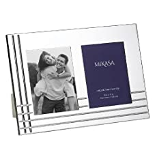 Mikasa Avenue Collection Silver Invitation Picture Frame, 5