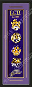 Heritage Banner Of Louisiana State With Team Color Double Matting-Framed Awesome... by Art and More, Davenport, IA