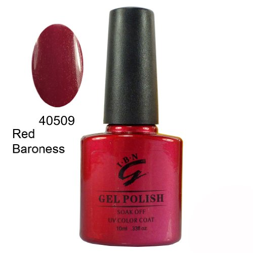 IBN UV/LED Gel Nail Polish 40509 Red Baroness (Shellac Nail Polish Red Baroness compare prices)