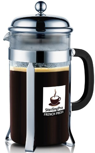 Review Of SterlingPro 8 Cup (1 liter, 34 oz) French Coffee Press-#1 With 2 BONUS Screen FREE(over $2...
