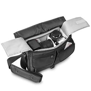Mantona Aventurin SLR-Kameratasche (herausnehmbares Kamerafach) schwarz