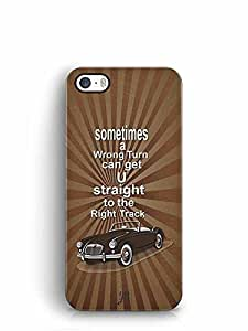 YuBingo Sometimes a Wrong Turn can Lead to the Right Track Designer Mobile Case Back Cover for Apple iPhone 5S