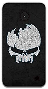 The Racoon Grip Borken Skull hard plastic printed back case / cover for Nokia Lumia 1320