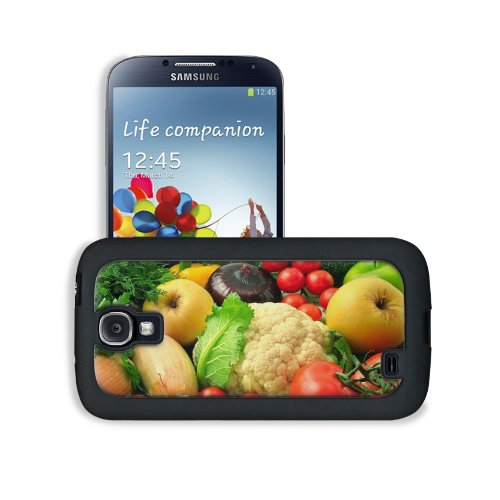 Vegetables Fruits Mixture Healthy Food Samsung Galaxy S4 Snap Cover Leather Design Back Plate Case Customized Made To Order Support Ready 5 3/16 Inch (132Mm) X 2 13/16 Inch (71Mm) X 4/8 Inch (12Mm) Msd Galaxy_S4 Professional Leather Plastic Cases Touch Ac front-1017051