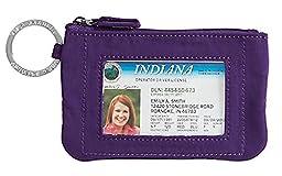 Vera Bradley Zip ID Case, elderberry