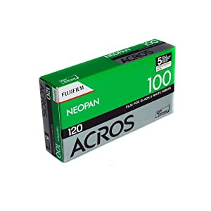 Fujifilm 102918 NEOPAN ACROS 100 Black and White Negative Film, ISO 100 120 - 5 Pack