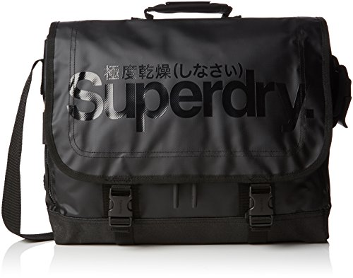 Superdry Gel Tarp Laptop Zaino Casual, 40 cm, Black (02A)