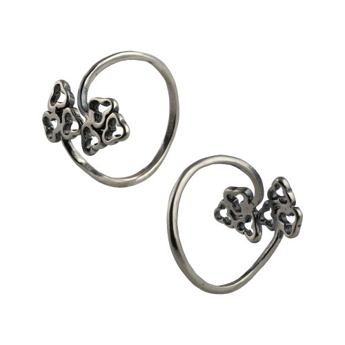 Indian Jewelry Sterling Silver Toe Rings Set for Women Adjustable