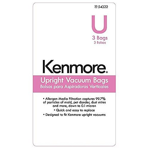 8 UltraCare Kenmore Style U Upright Vacuum Bags, 50105 (Vacuum Cleaner Bags Kenmore 50688 compare prices)