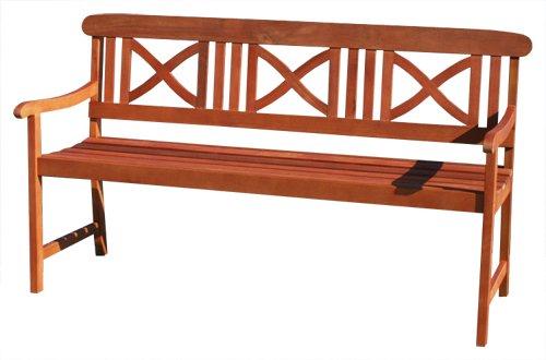 KMH®, Gartenbank aus massivem Eukalyptusholz (160 cm) (#101070) jetzt kaufen