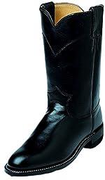 Justin Ladies Roper 10in Black Kipskin Boots 10