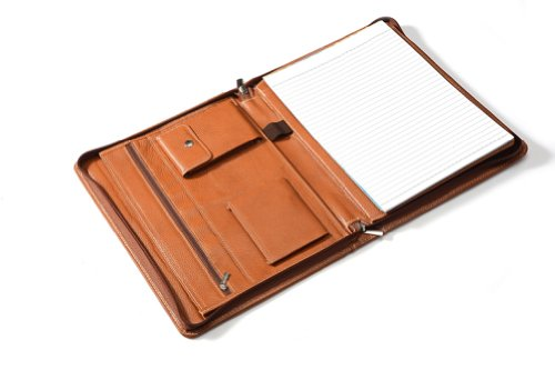 XIAOZHI iPad Full Grain cowhide Light Brown Leather Portfolio case for iPad