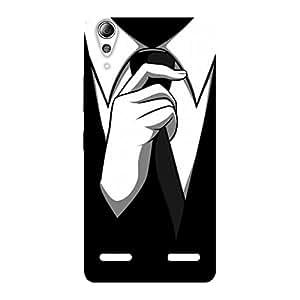 Ajay Enterprises Tie Coat Hand Back Case Cover for Lenovo A6000 Plus