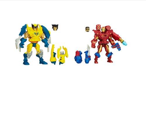 Bundle Of 2: Marvel Super Hero Mashers Electronic Wolverine And Iron Man Figures