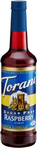 Torani Sugar-Free Syrup, Raspberry, 25.4-Ounce Bottles (Pack of 3)