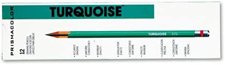 Prismacolor  Turquoise Drawing Pencil 4H 198 mm Dozen - Sold as 2 Packs of - 12 -  - Total of 24 Eac