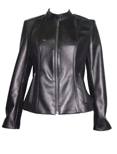 Nettailor Women 4062 Lamb Leather Motorcycle Jacket