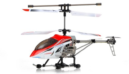 The Newest Viefly V388 3 Channel Medium Size Alloy Rc Helicopter with Gyro - Orange