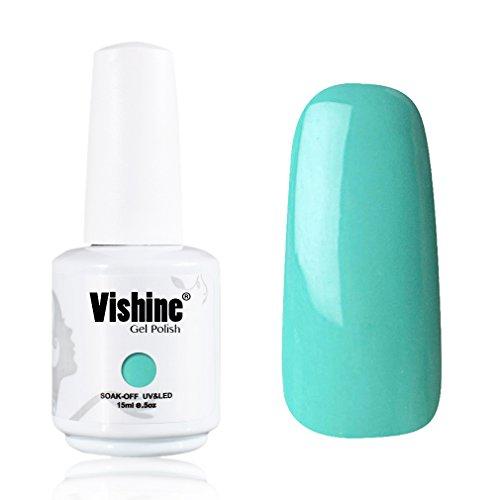 Vishine-Gelpolish-Professional-Lacquer-Color-Soak-Off-UV-LED-Gel-Nail-Polish-Manicure-Mint-Green1467