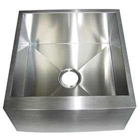 Elements of Design EUF212110BN DENVER Stainless Steel Farmhouse Single Bowl kitchen Sink , Brushed
