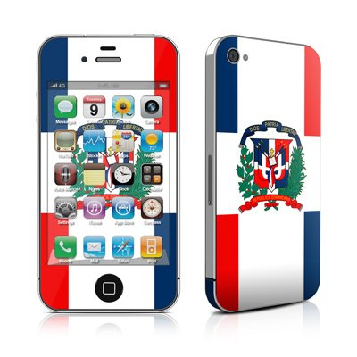 Apple iPhone4/iPhone4S用 スキンシール【Dominican Republic Flag】